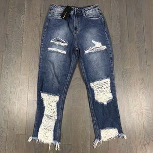 NWT Fashion Nova Bennie Boyfriend Jeans Size 7